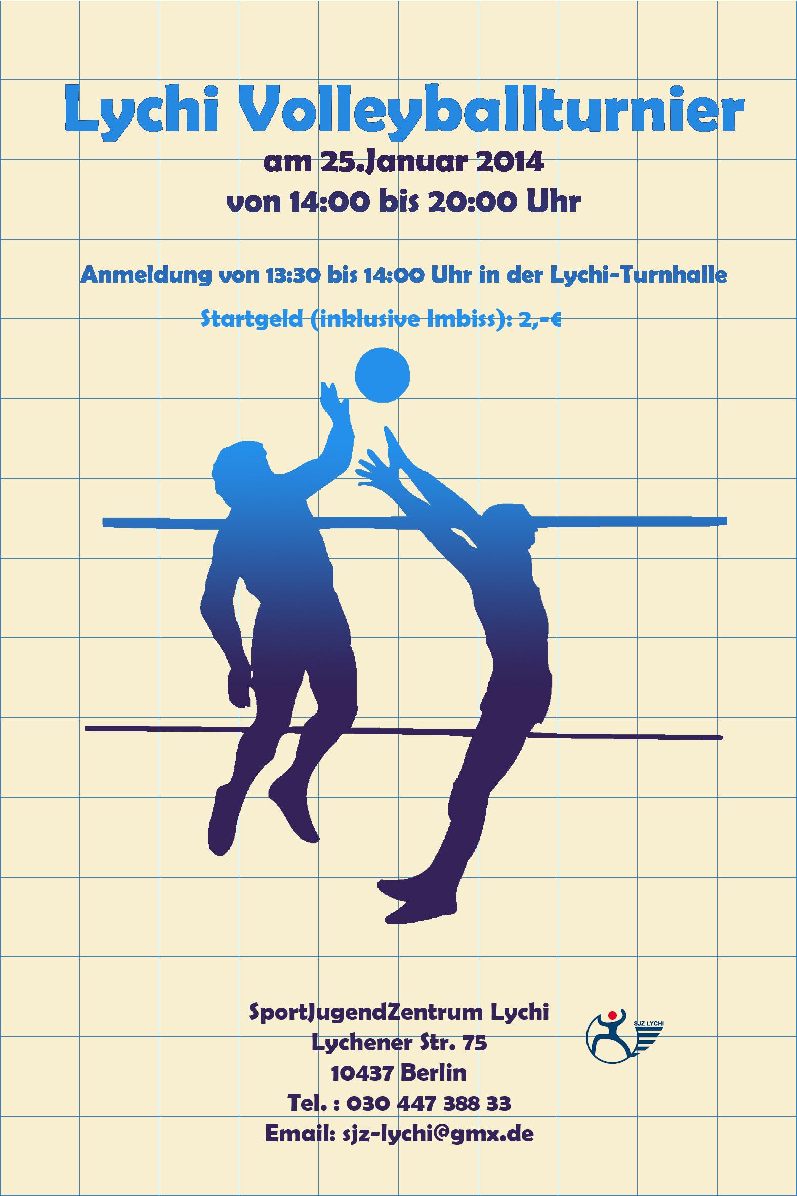 lychi volleyballturnier Einladung